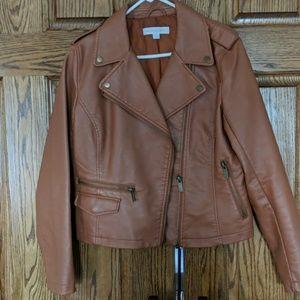 Fall color moto jacket for non biker chics!